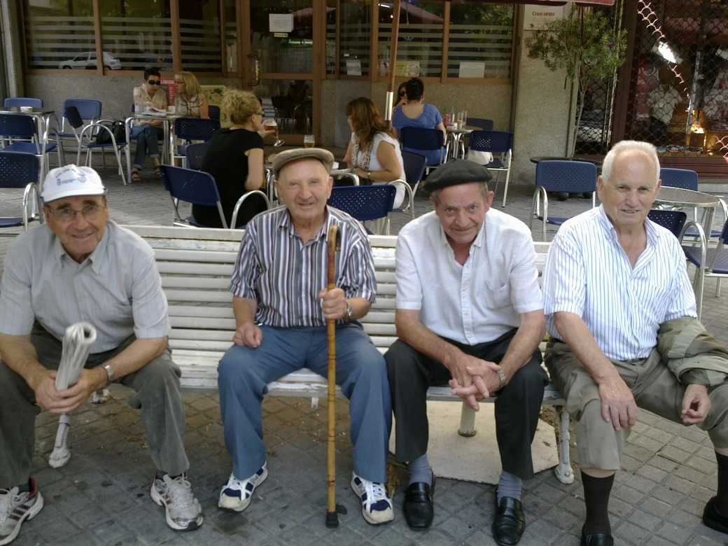 men on bench 2