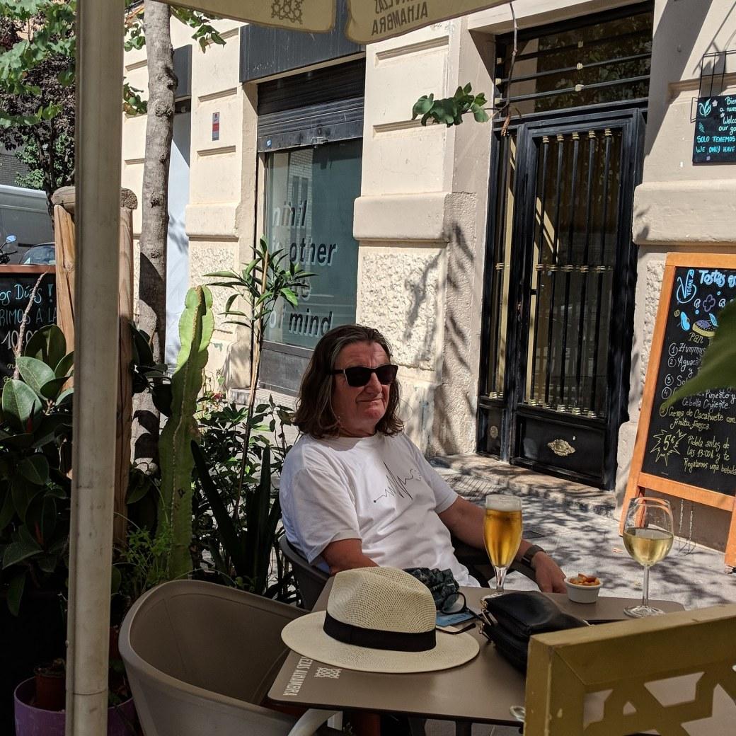 Valencia sunny bar